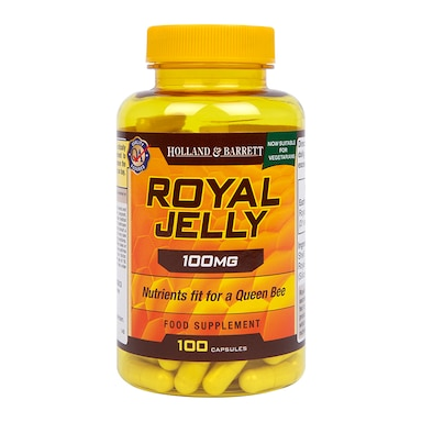 Holland & Barrett Royal Jelly 100mg 100 Capsules