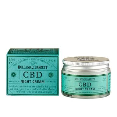 Holland & Barrett CBD Night Cream 50ml