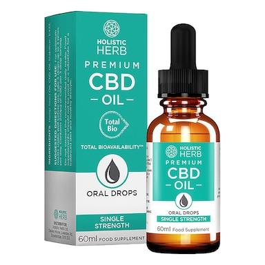 Holistic Herb Premium CBD Oil Single Strength 60ml