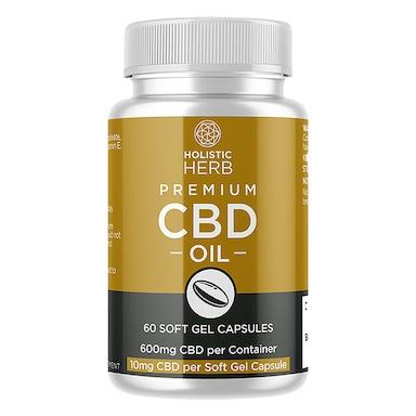 Holistic Herb Premium CBD 60 Capsules 10mg