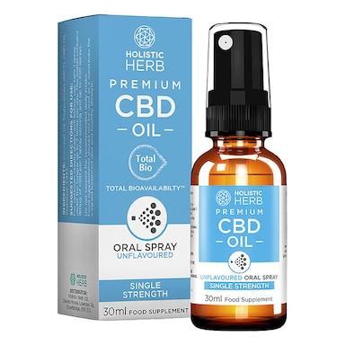 Holistic Herb Premium CBD Oral Spray Single Strength 30ml Unflavoured
