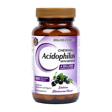 Holland & Barrett Chewable Acidophilus with Bifidus 100 Tablets