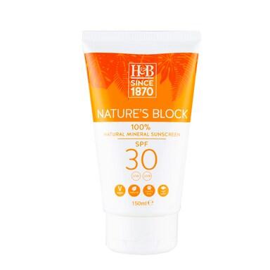 Holland & Barrett Nature's Block Mineral SPF 30 Sun Cream 150ml