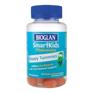 Bioglan SmartKids Happy Tummies 30 Strawberry Flavour Gummies