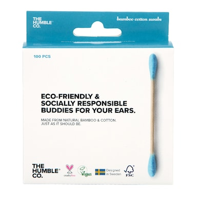 Humble Bamboo Cotton Swabs - Blue 100pcs