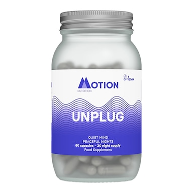 Motion Nutrition Night Time Unplug 60 Capsules 30 Day Supply