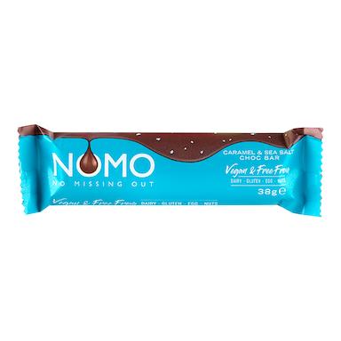 NOMO Vegan Caramel & Sea Salt Choc Bar 38g