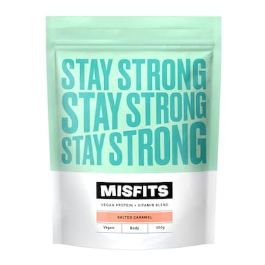 Misfits Salted Caramel Stay Strong Vegan Protein Powder 500g