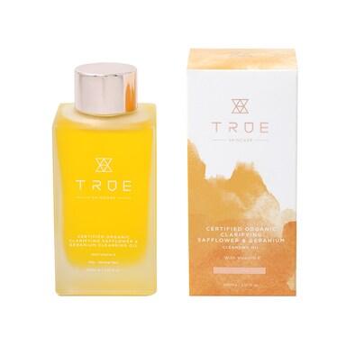 True Skincare Organic Clarifying Safflower & Geranium Cleansing Oil 100ml