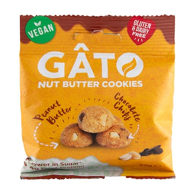 Gato Peanut Butter Chocolate Chip Cookies 33g