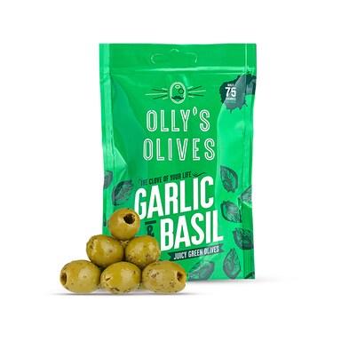 Olly's Olives Basil & Garlic Olives 50g