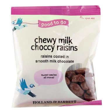 Holland & Barrett Chewy Milk Chocolate Raisins 50g