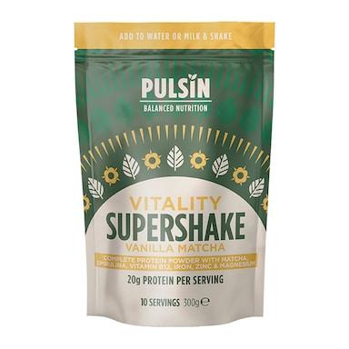 Pulsin Supershake Vitality Vanilla Matcha 300g