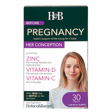 Holland & Barrett Before Pregnancy - HER Conception 30 Tablets