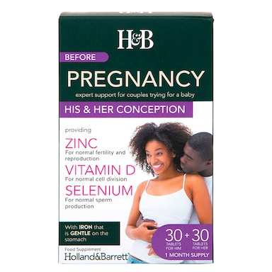 Holland & Barrett Before Pregnancy His & Her Conception Dual Pack 60 Tablets