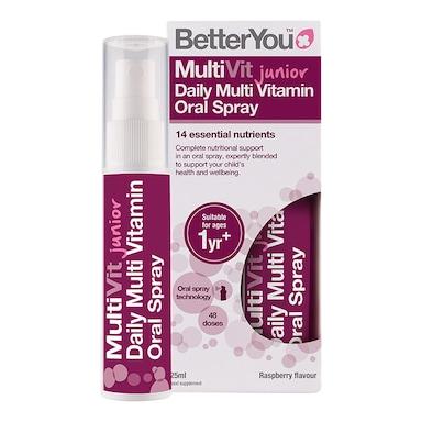 BetterYou Multi Vitamin Junior Daily Oral Spray Raspberry Flavour 25ml