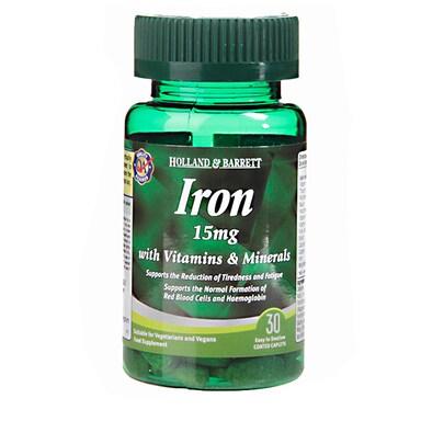 Holland & Barrett Iron 15mg with Vitamins & Minerals 30 Caplets