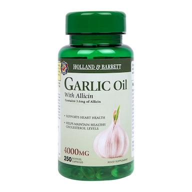 Holland & Barrett Garlic Oil With Allicin 4000mg 250 Capsules