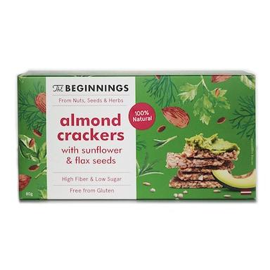 The Beginnings Almond Crackers 80g