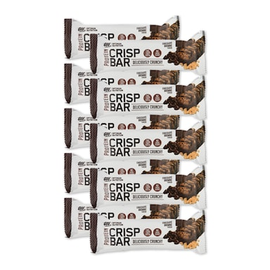 Optimum Nutrition Crisp Protein Bar Choc Brownie Full Box 10 x 65g