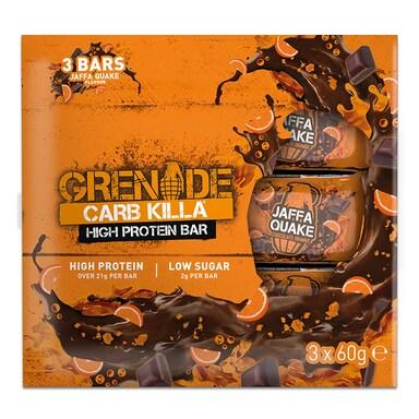 Grenade Carb Killa 3 Pack Jaffa Quake 3 x 60g