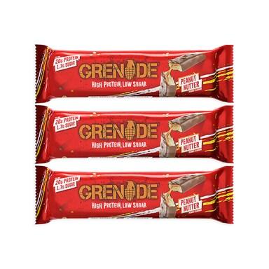 Grenade Carb Killa 3 Pack Peanut Nutter 3 x 60g