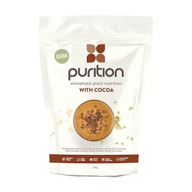 Purition Vegan Wholefood Nutrition Chocolate 250g