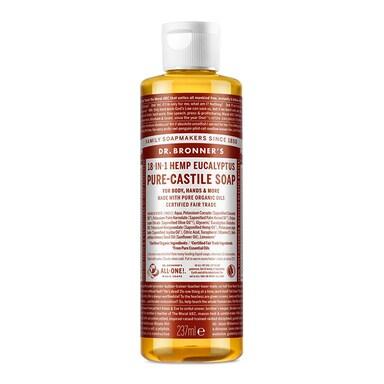 Dr Bronner's Eucalyptus Pure-Castile Liquid Soap 237ml