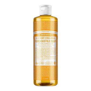 Dr Bronner's Citrus Orange Pure-Castile Liquid Soap 473ml
