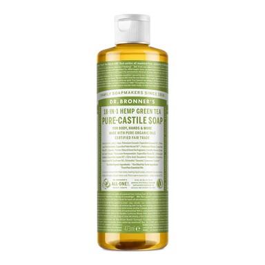 Dr Bronner's Green Tea Pure-Castile Liquid Soap 473ml