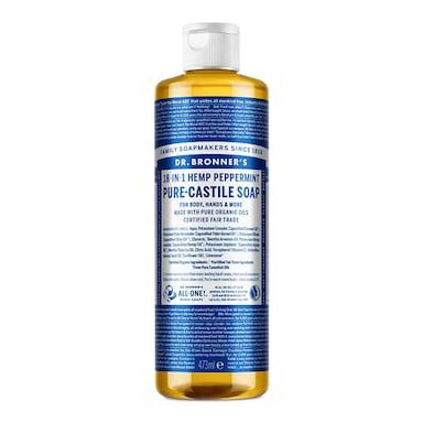 Dr Bronner's Peppermint Pure-Castile Liquid Soap 473ml