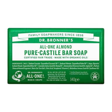 Dr Bronner's - All-One Almond Pure-Castile Bar Soap 140g