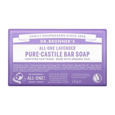 Dr Bronner's - All-One Lavender Pure-Castile Bar Soap 140g
