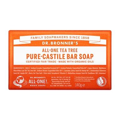 Dr Bronner's - All-One Tea Tree Pure-Castile Bar Soap 140g