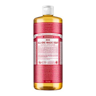 Dr Bronner's Rose Pure-Castile Liquid Soap 946ml