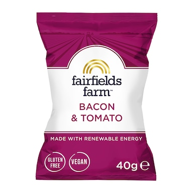 Fairfields Farm Vegan Bacon & Tomato Potato Crisps 40g