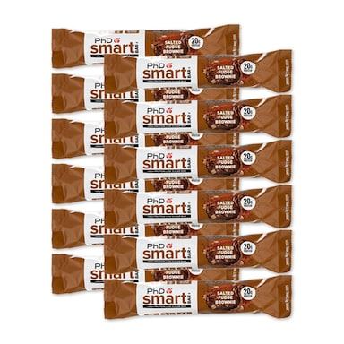 PhD Smart Bar Salted Fudge Brownie 12 x 64g