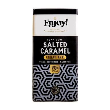 Enjoy! Salted Caramel Filled Vegan Chocolate 70g