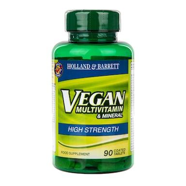 Holland & Barrett Vegan High Strength Multivitamins 90 Tablets