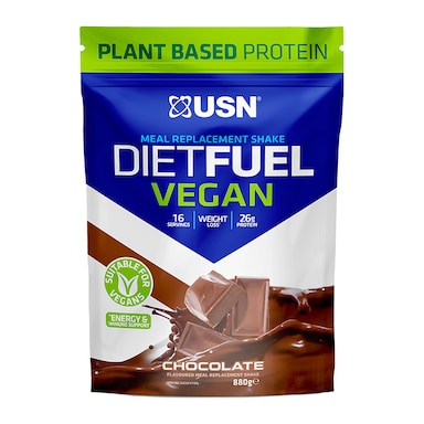 USN Diet Fuel Vegan Meal Replacement Shake Chocolate 880g