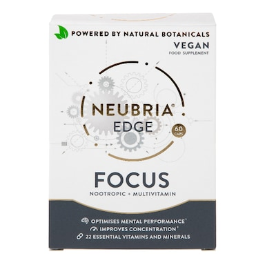 Neubria Edge Focus Nootropic Multivitamin Vegan 60 Capsules