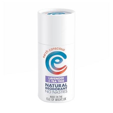 Earth Conscious Natural Deodorant Stick - Lavender & Tea Tree 60g