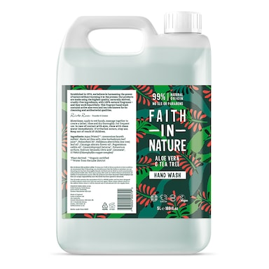 Faith In Nature Aloe Vera & Tea Tree Hand Wash 5 Litre