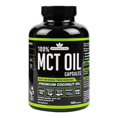 Natures Aid 100% MCT Oil 120 Capsules