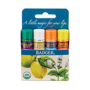 Badger Classic Lip Balm 4 pack - Blue 17g