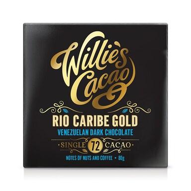 Willie's Cacao Rio Caribe Gold Venezuelan 72% Dark Chocolate 80g