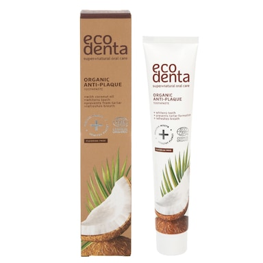 Ecodenta Organic Anti-plaque Toothpaste with Coconut Oil 75ml