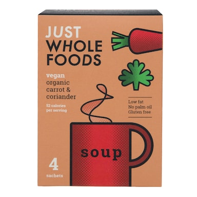 Just Wholefoods Soup In A Mug - Carrot & Coriander 17g
