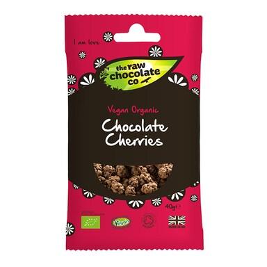 Raw Choc Co Chocolate Cherries Raw Snack 40g