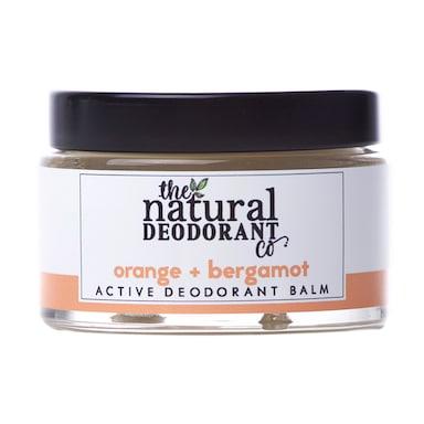 The Natural Deodorant Co Active Deodorant Balm Orange & Bergamot 55g